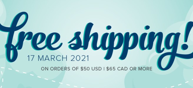 Free shipping on all Stampin' Up products