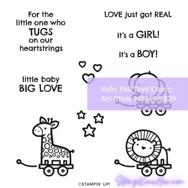 Stampin' Up Baby Pull Toys Stamp Set