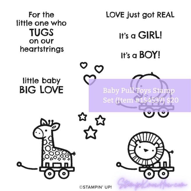 Stampin' Up Baby Pull Toys Stamp Set
