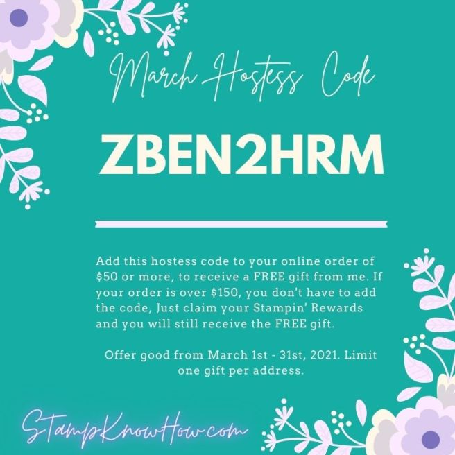 StampKnowHow.com March 2021 Hostess Code