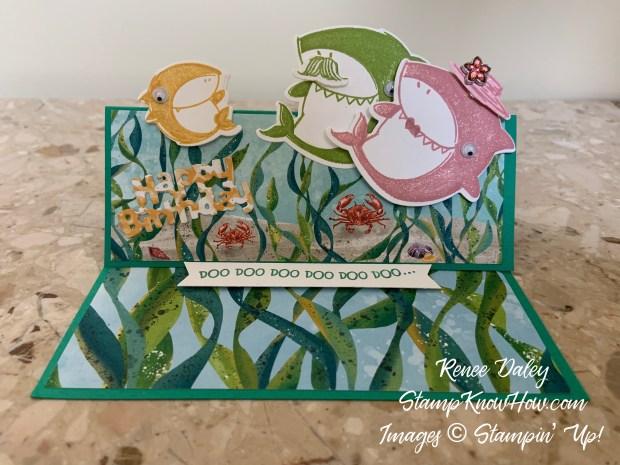 Shark Frenzy Birthday Card Image