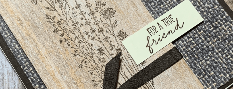 Closeup Image of the Dragonfly Garden Friend Card