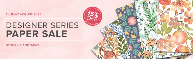 Stampin' Up Designer Series Paper Sale