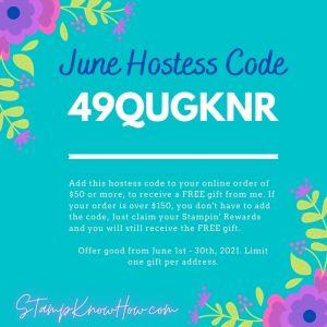 StampKnowHow.com June 2021 Hostess Code Image