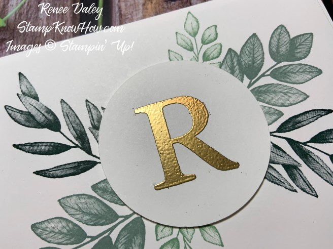 Close up image of Forever Fern Initial Notecard