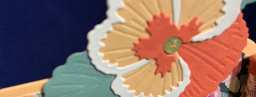 Close up image of the die cut flower from the Pansy Petals Suite by Stampin' Up