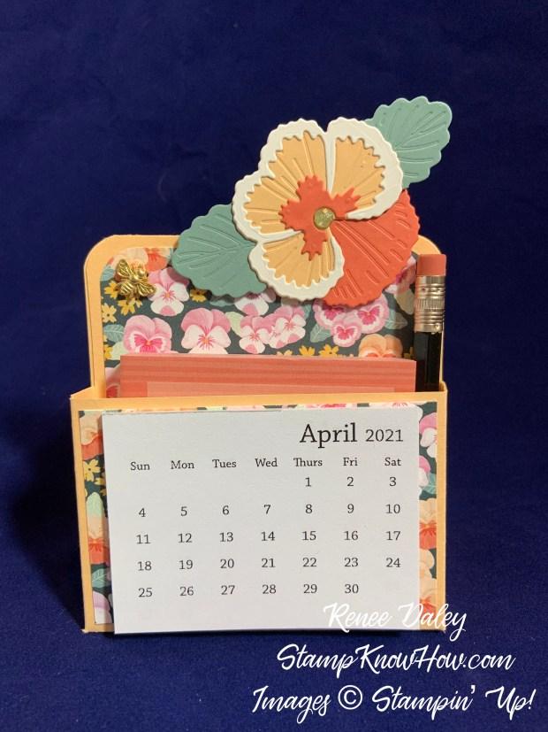 Image of Pansy Petals Suite Collection Desk Calendar