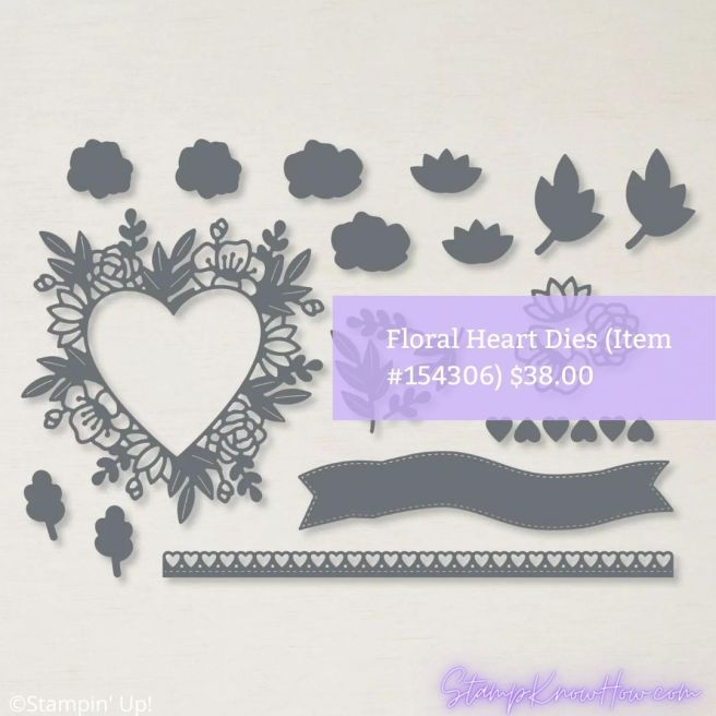Stampin' Up Floral Heart Dies