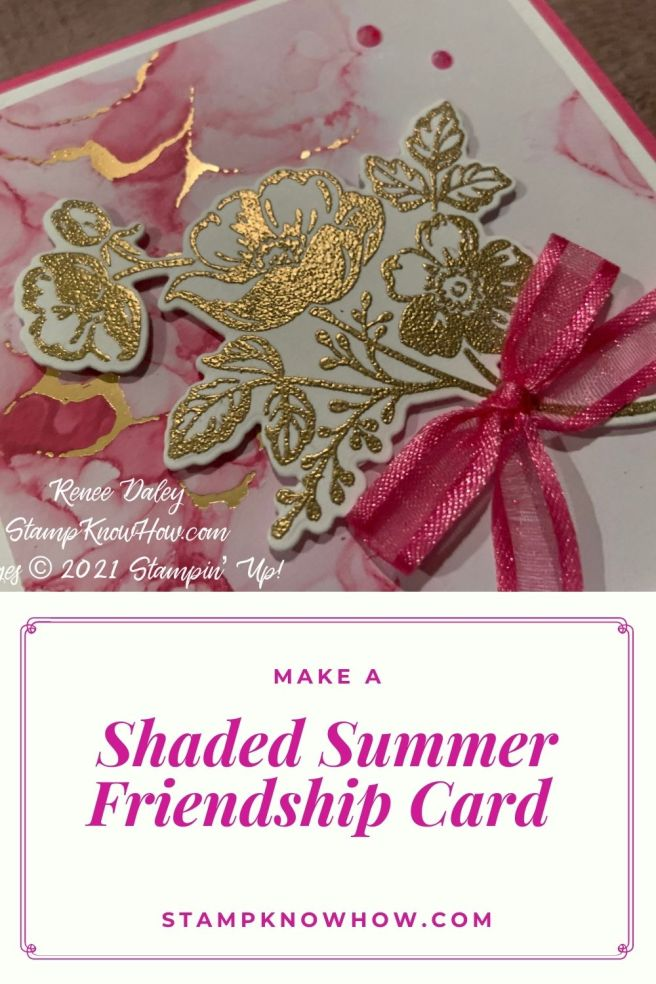 Shaded Summer Friend Card Pinterest Image