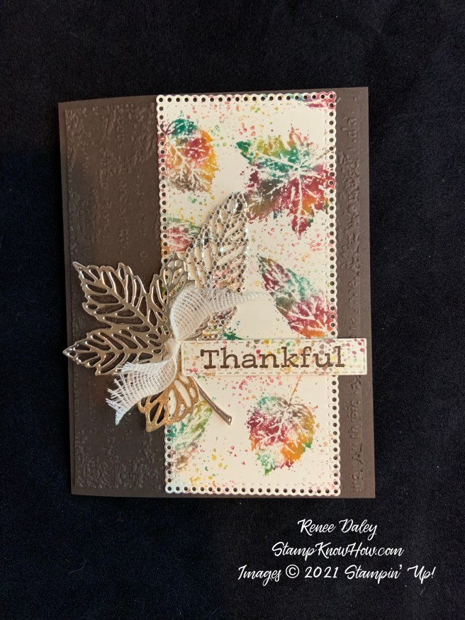 Gorgeous Leaves Thankful Card