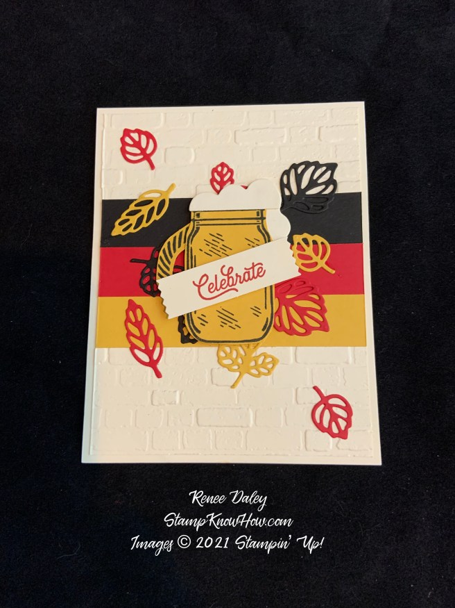 Oktoberfest Card: Using the Jar of Flowers Stamp Set & the Sheep Dies by Stampin' Up