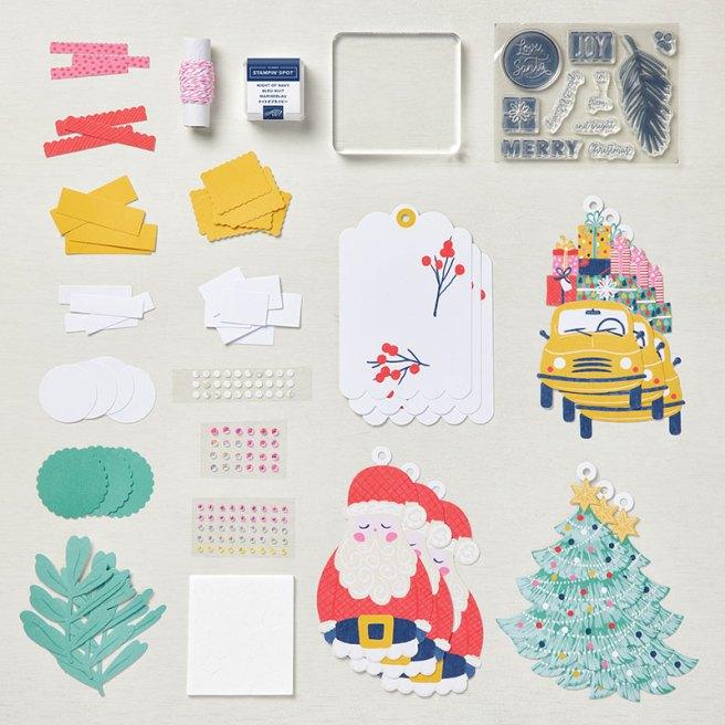 Love Santa Tag Kit Pieces