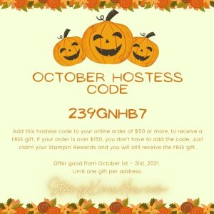 October 2021 Hostess Code for StampKnowHow.com