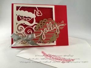 Photo of Jolly Santa card and envelope