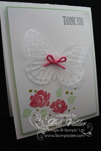 How To Shimmer Your Butterflies Thinlits Dies With Deb