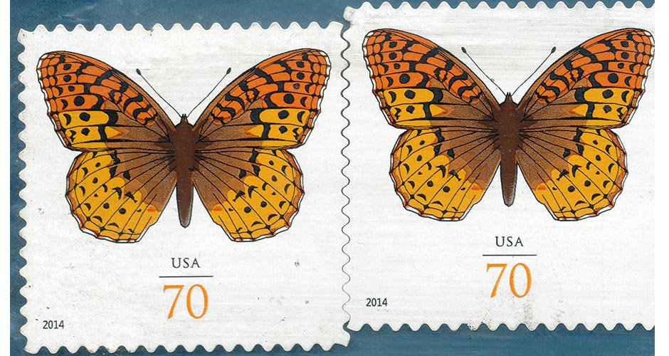 Two US Butterfly Stamps
