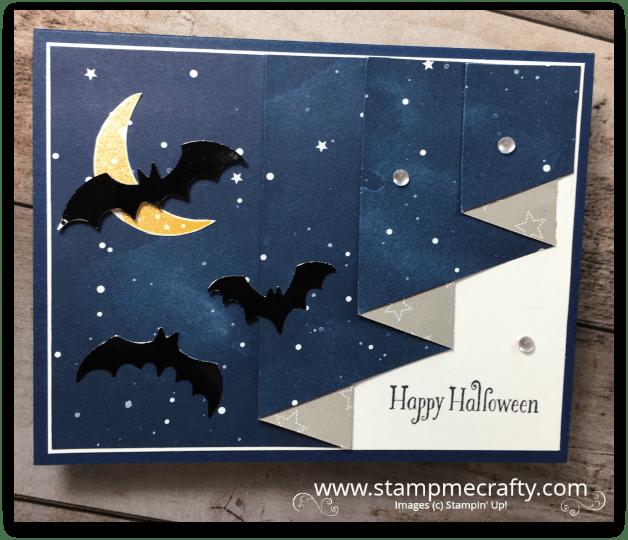 Pals October Blog Hop, Wicked Folds, Halloween, Stampmecrafty.com, Stampin' Up!, Terri George, Handmade Cards