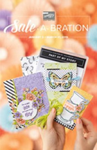 sale a bration, stampin up, stampmecrafty, terri george, biggest sale of the year, free with purchase