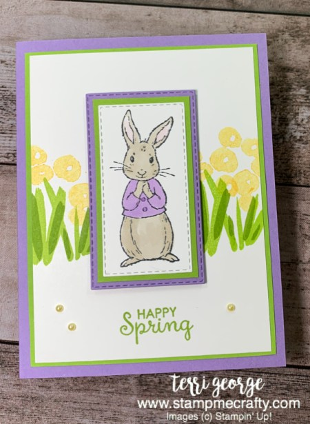Pals Blog Hop, Stamp Me Crafty, Terri George, Stampin' Up!, Fable Friends, Springtime, Spring Has Sprung