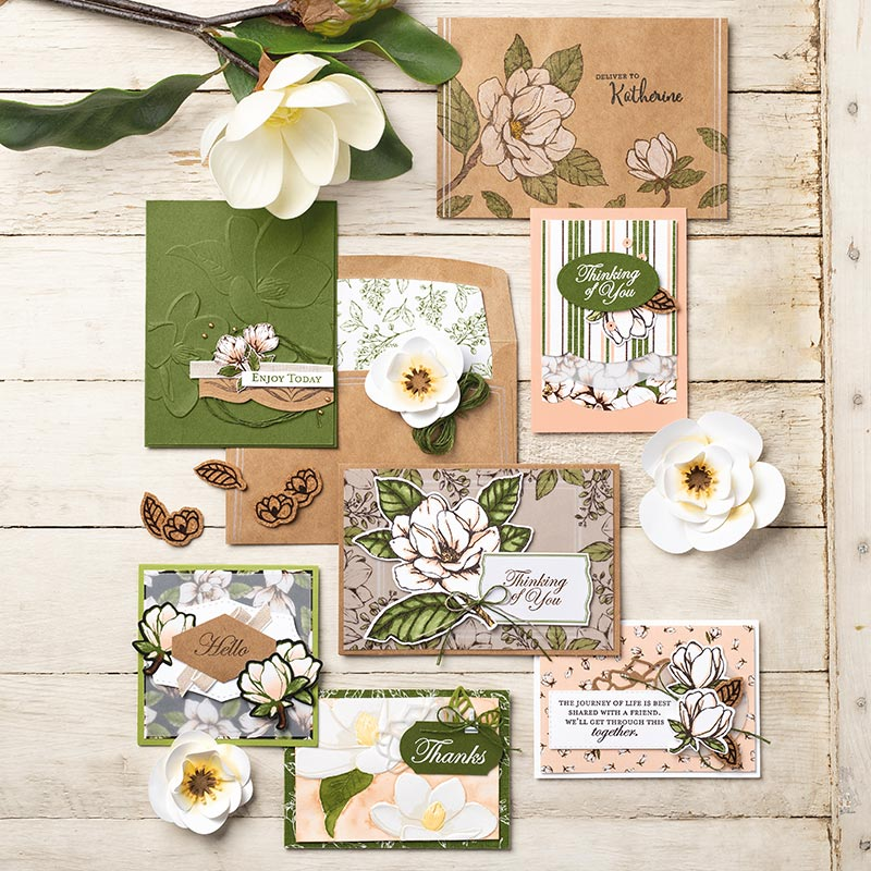 Magnolia Lane Suite, Terri George - Stampin' Up! Demonstrator uS, Stamp Me Crafty, stampmecrafty.com, Handmade Cards, Handcrafted Projects, Papercrafting, Magnolia, Cards, Samplers
