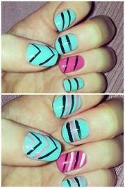 aztec nails stamp nail art