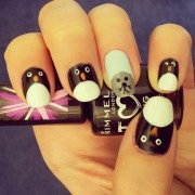 penguin and seal nail art brunch