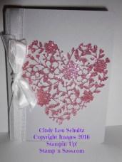 Blushing Bride Sparkle Heart