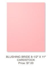 Blushing Bride Cardstock