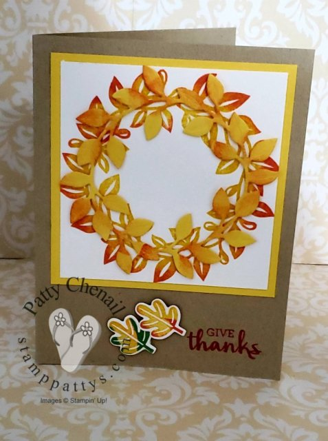 I usedArrange a Wreath from Stampin' Up! 2021 Annual Catalog to create all season wreaths to share with those that you love.  This uses the Rock n Roll technique to add that bit of orange on to the daffodil leaves!