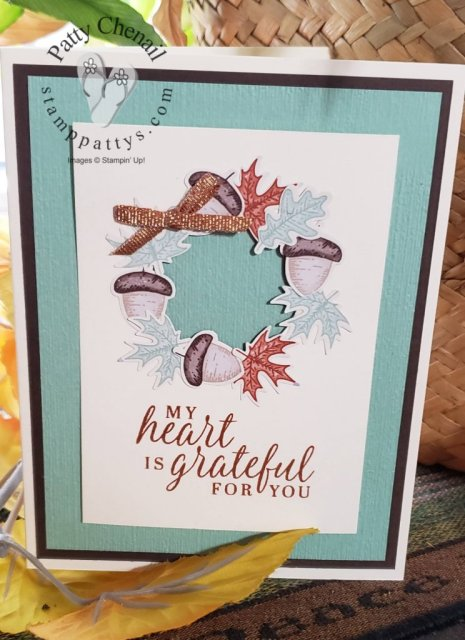 Using products from the Beautiful Autumn bundle - Item #155189, this project was created to share how grateful you are for others.  Be sure to check out the details of this project on my blog.