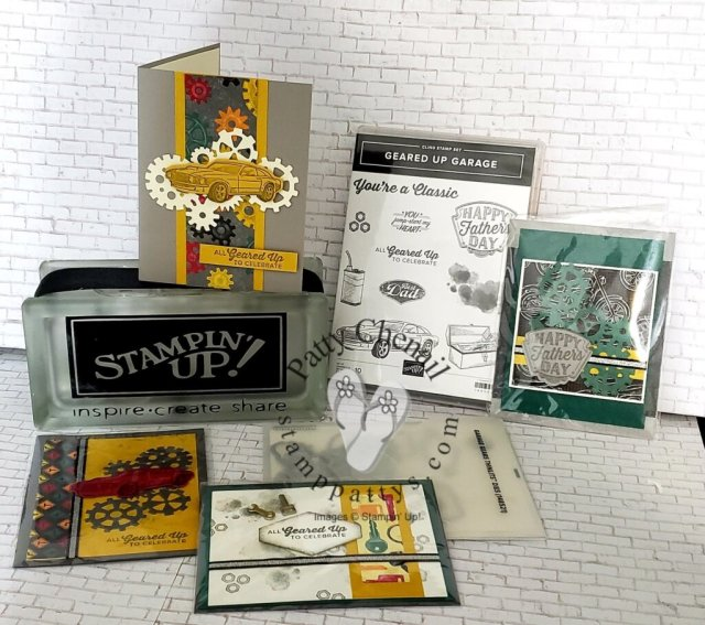 Geared Up Garage Bundle will be gone by May 3, 2021. This is one of many retiring sets from Stampin' Up!  Get yours now while you can! Visit my online store to place your order.