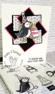 Party Puffin Wobble Card – My Maui swap card for all to see!