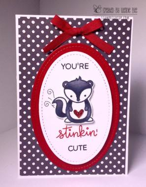 Lawn Fawn Stinkin Cute Skunk Valentines Day by Wendie Bee of Stamp Right Up