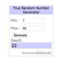 Random Number Screen shot for 26 Mar Blog Candy winner