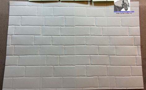 Brick Wall embossed tunnel card