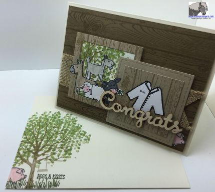 Barnyard Congrats Card and Envelope watermarked