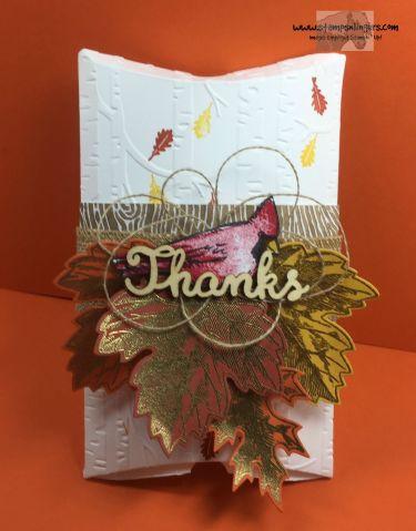 Joyful Seasons Vintage Leaves Pillow Box 1