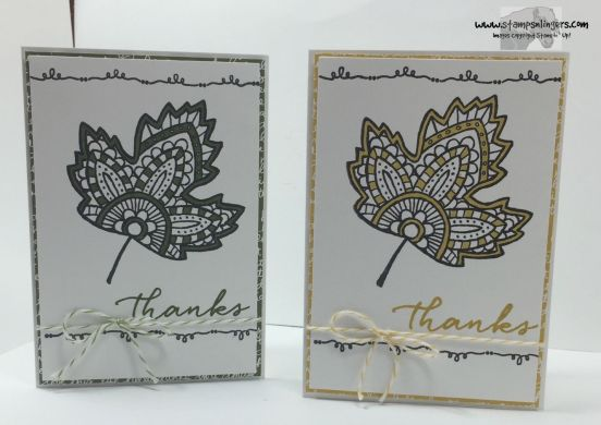 Lighthearted Leaves Thanks 8 - Stamps-N-Lingers