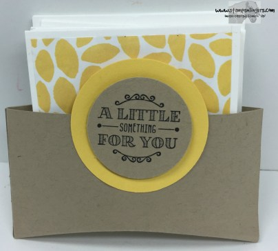 A Little Something Note Card Holder - Stamps-N-Lingers
