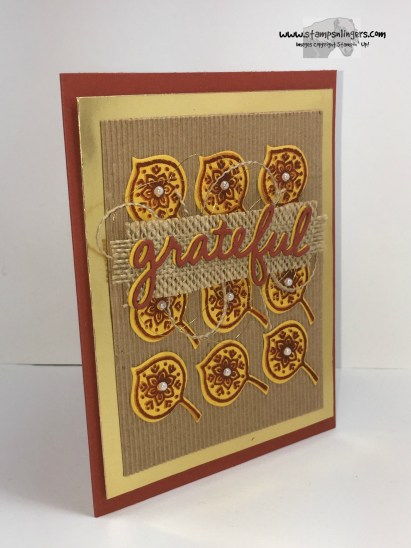 Lighthearted Leaves Grateful 2 - Stamps-N-Lingers