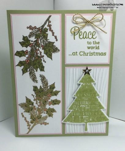 Peaceful Wreath Peaceful Pine 2 - Stamps-N-Lingers