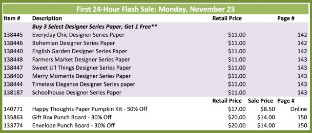 23 Nov Flash Sale