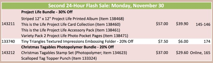 Flash sale 30 nov 15