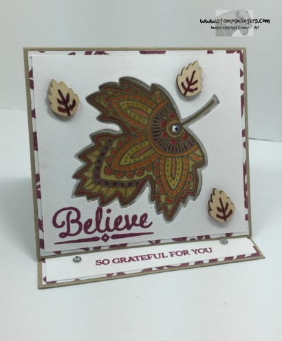 Lighthearted Leaves Glow Card 1 - Stamps-N-Lingers