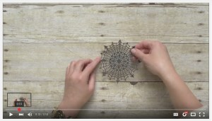 Spider Web Doilies Uses video