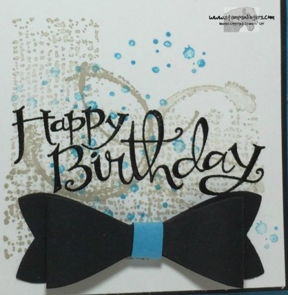 Happy Birthday Bow-Tie 8 - Stamps-N-Lingers