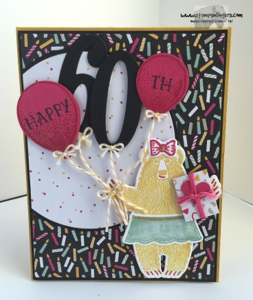 Bear Hug Birthday Balloons 1 - Stamps-N-Lingers