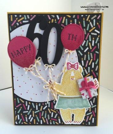 Bear Hug Birthday Balloons 1 - Stamps-N-Lingers