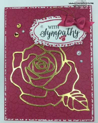 Rose Wonder Sympathy 4 - Stamps-N-Lingers