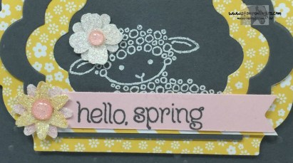 Easter Lamb Hello Spring 4 - Stamps-N-Lingers